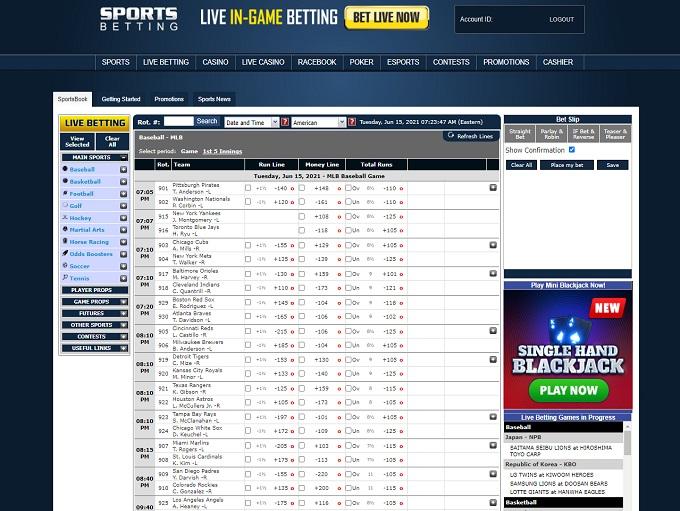 Sportsbetting.com Odds