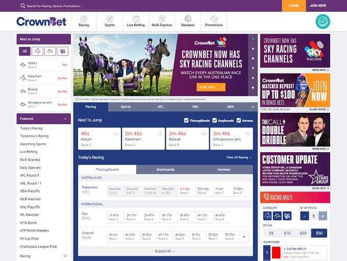 CrownBet Home Page