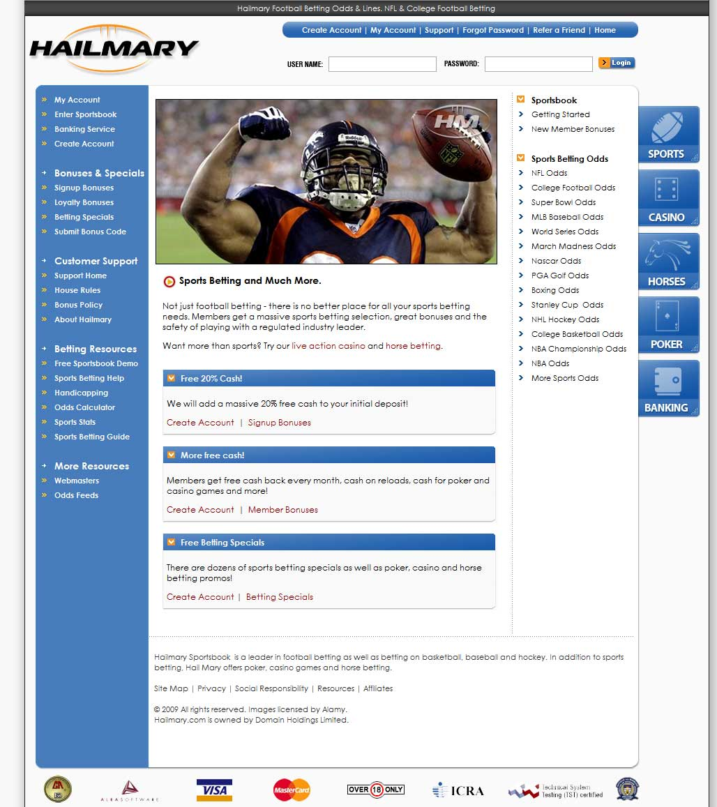 Hail Mary Homepage