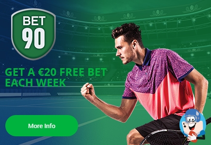 Get Extra €20 Each Week During US Open On Bet90