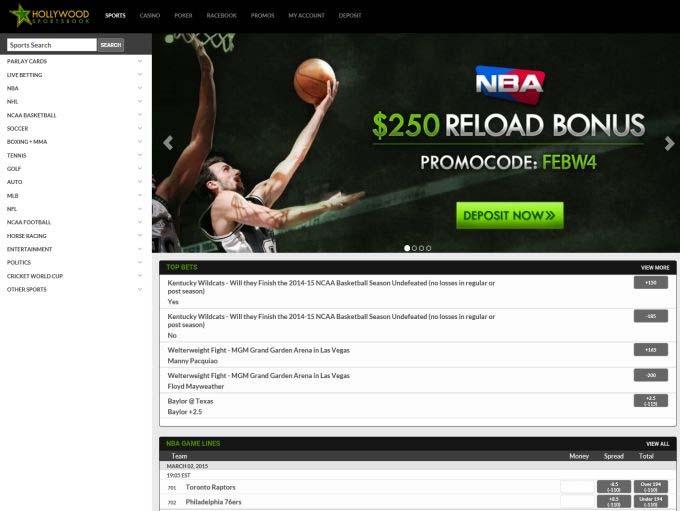 Hollywoodsportsbook Homepage