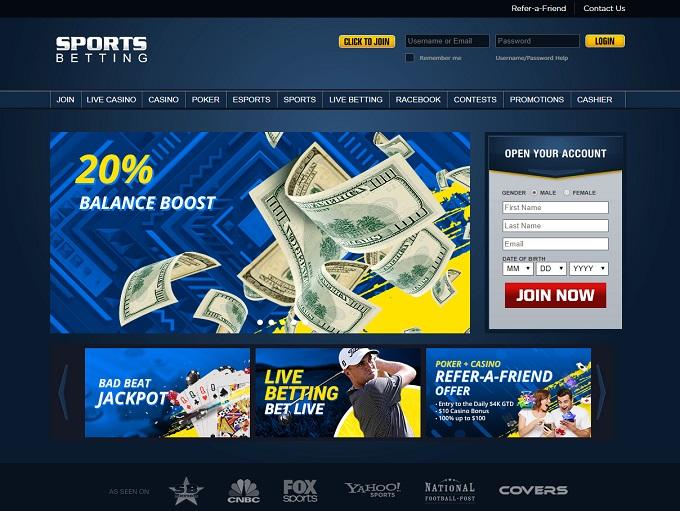 Sportsbetting.com Home Page